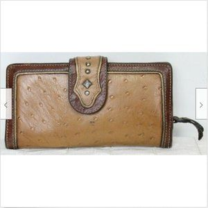VTG 1980s American West Leather Ostrich Wallet